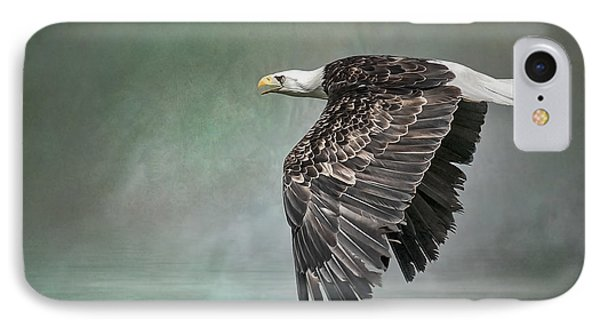 IPhone Case featuring the photograph Bald Eagle In Mist by Brian Tarr