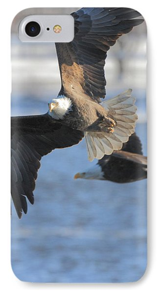 Bald Eagle Pair IPhone Case by Coby Cooper