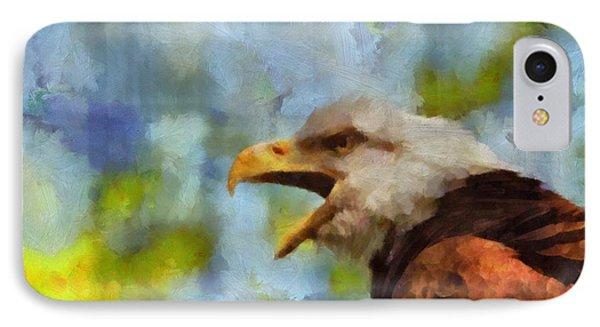 Bald Eagle Portrait IPhone Case by Dan Sproul
