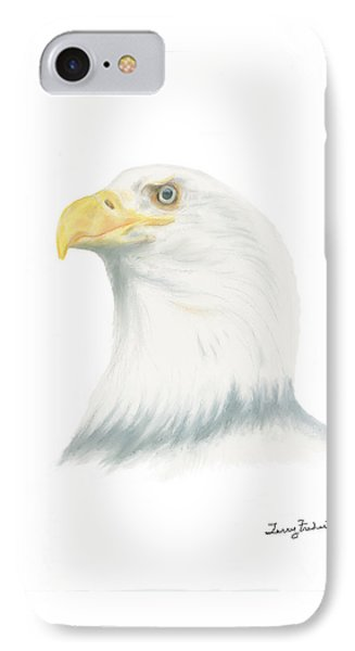 IPhone Case featuring the drawing Bald Eagle by Terry Frederick