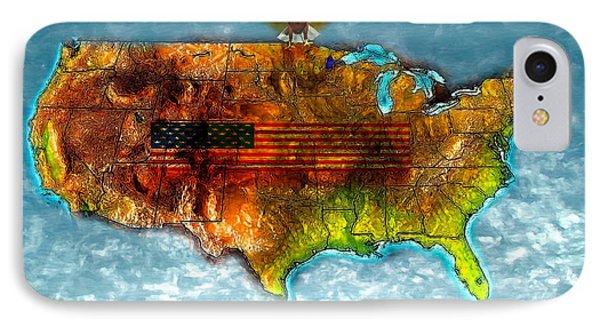 Bald Eagle U.s. Map Phone Case by Daniel Janda
