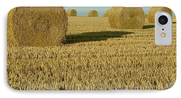 Bales Of Grain At Harvest Time Phone Case by Cyril Ruoso