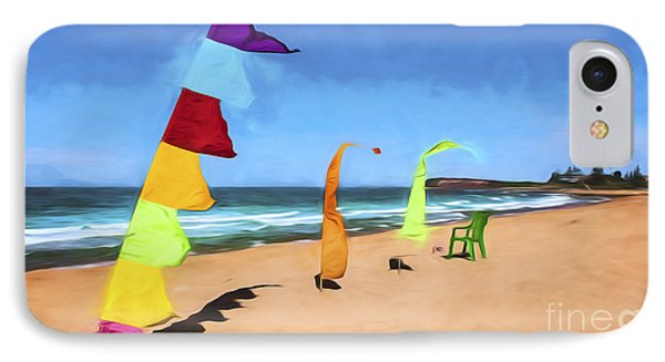 Bali Flags On Collaroy Beach IPhone Case by Avalon Fine Art Photography
