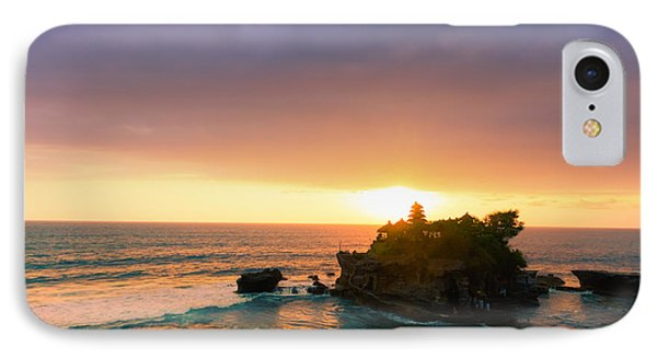 Bali Tanah Lot Temple At Sunset Phone Case by Fototrav Print