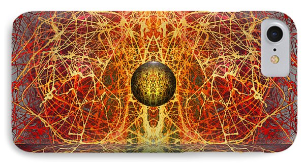 IPhone Case featuring the digital art Ball And Strings by Otto Rapp