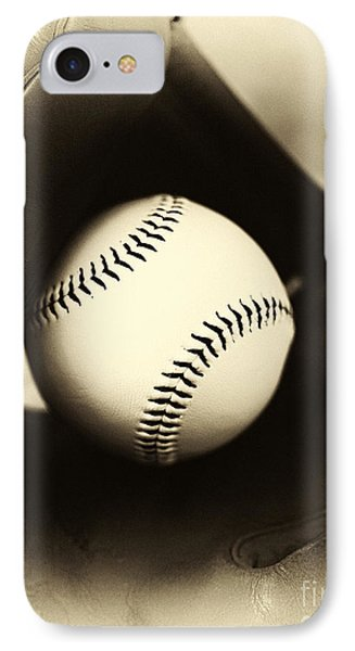 Ball In Glove Phone Case by John Rizzuto