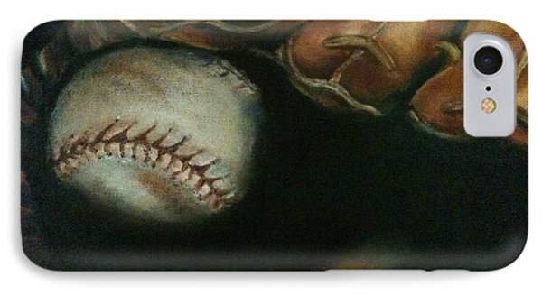 Ball In Glove IPhone Case by Lindsay Frost