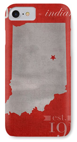 Ball State University Cardinals Muncie Indiana College Town State Map Poster Series No 017 Phone Case by Design Turnpike