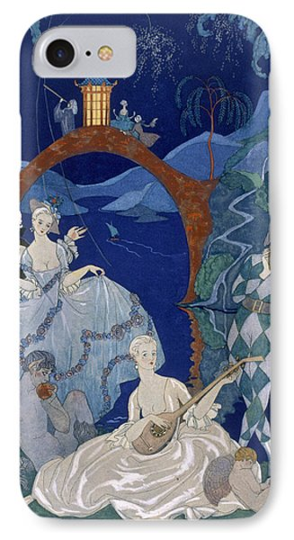 Ball Under The Blue Moon Phone Case by Georges Barbier