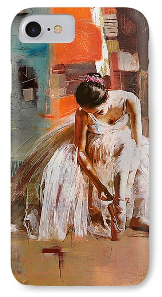 Ballerina 20 IPhone Case by Mahnoor Shah