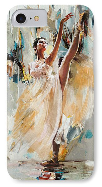 Ballerina 24 IPhone Case by Mahnoor Shah