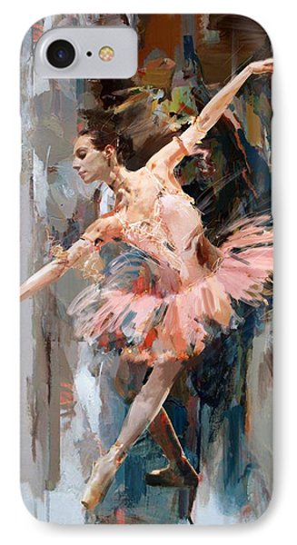 Ballerina 29 IPhone Case by Mahnoor Shah