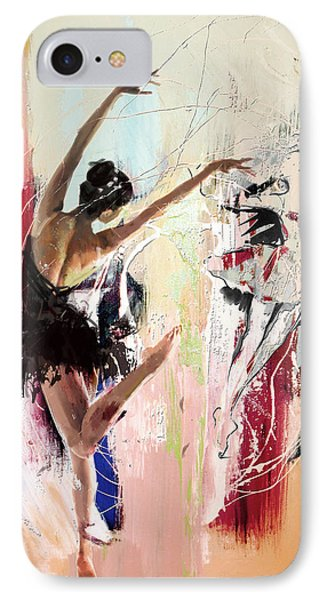 Ballerina 30 IPhone Case by Mahnoor Shah
