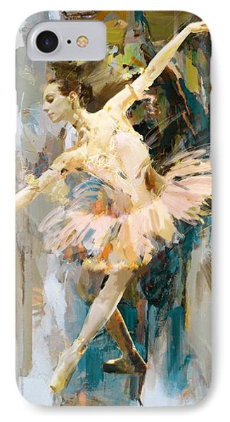 Ballerina 31 IPhone Case by Mahnoor Shah