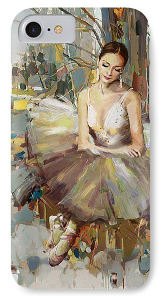 Ballerina 32 IPhone Case by Mahnoor Shah
