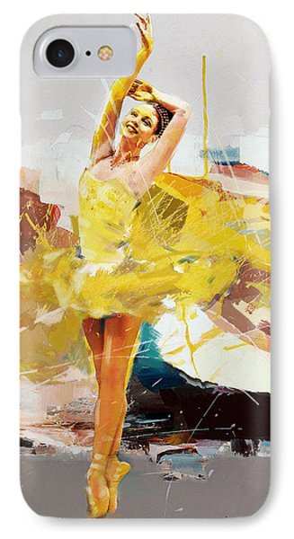 Ballerina 33 IPhone Case by Mahnoor Shah