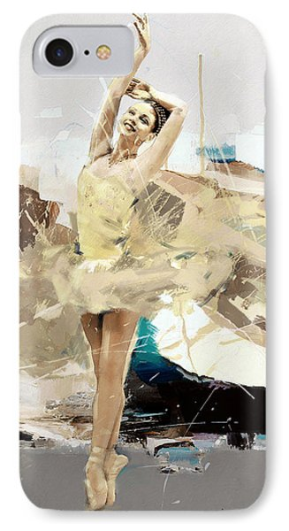 Ballerina 34 IPhone Case by Mahnoor Shah