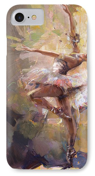 Ballerina 35 IPhone Case by Mahnoor Shah
