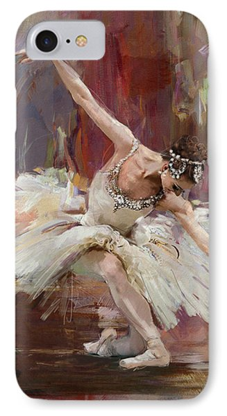 Ballerina 36 IPhone Case by Mahnoor Shah