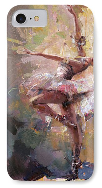 Ballerina 40 IPhone Case by Mahnoor Shah