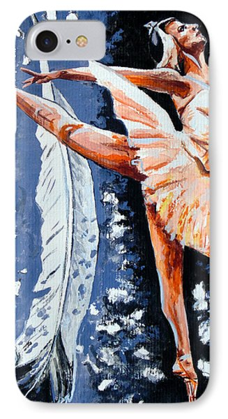 IPhone Case featuring the painting Ballerina by Daniel Janda