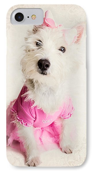Ballerina Dog IPhone Case by Edward Fielding