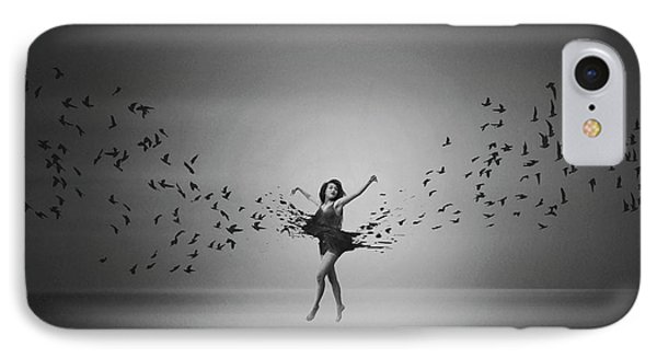 Ballerina Flight Of Birds IPhone Case