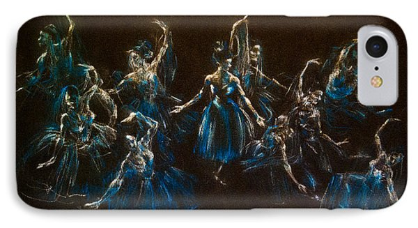IPhone Case featuring the painting Ballerina Ghosts by Jani Freimann