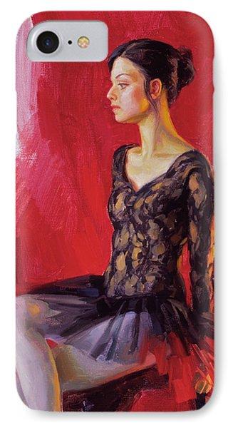 Ballerina In Black IPhone Case