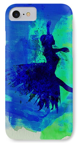 Ballerina On Stage Watercolor 5 IPhone Case