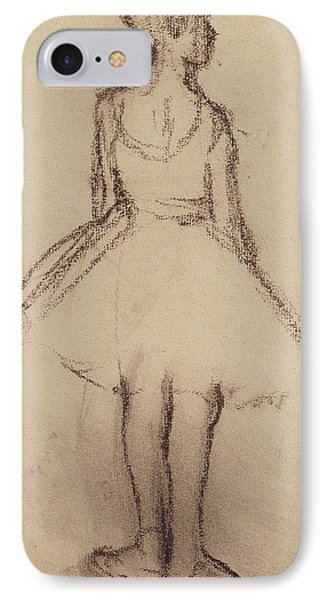 Ballerina Viewed From The Back  IPhone Case by Edgar Degas