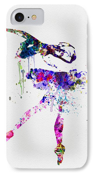 Ballerina Watercolor 2 IPhone Case by Naxart Studio