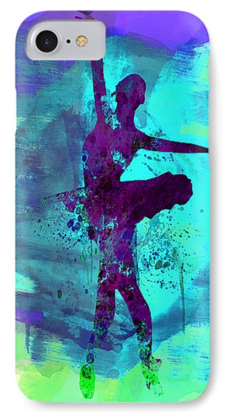 Ballerina Watercolor 4 IPhone Case by Naxart Studio