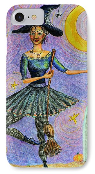 Ballerina Witch Phone Case by Emily Michaud