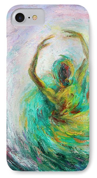 IPhone Case featuring the painting Ballerina by Xueling Zou