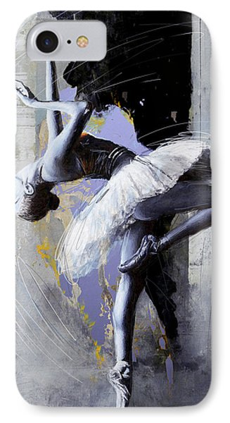 Ballet Dancer 16 IPhone Case by Mahnoor Shah