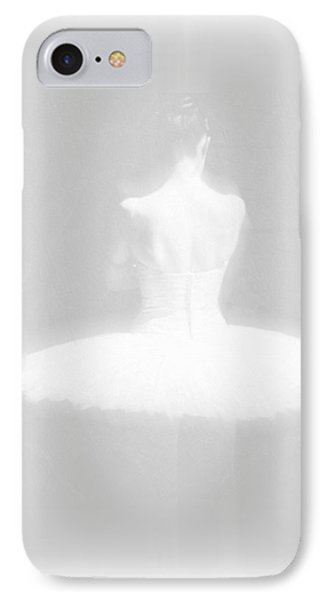 Ballet Dancer Standing White On White IPhone Case