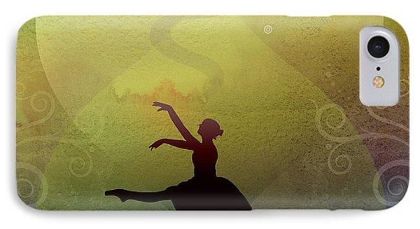Ballet In Solitude - Color Verde IPhone Case by Bedros Awak