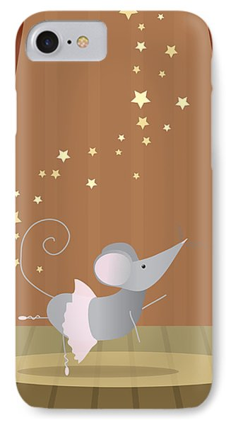 Ballet Mouse Nursery Art Girl IPhone Case by Christy Beckwith
