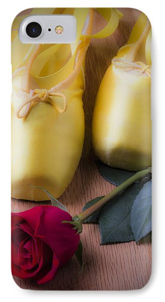 Ballet Shoes With Red Rose Phone Case by Garry Gay
