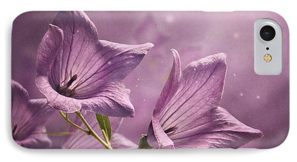 IPhone Case featuring the photograph Balloon Flowers by Ann Lauwers