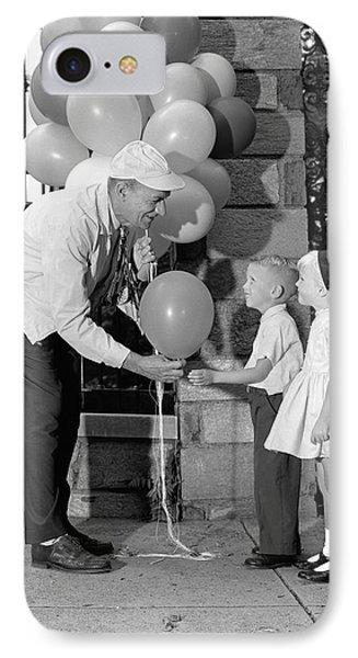 Balloon Man And Children, C.1960s IPhone Case