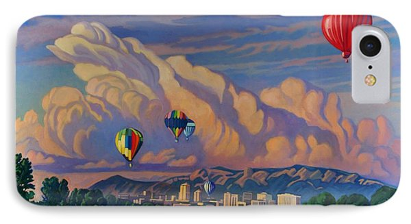 IPhone Case featuring the painting Ballooning On The Rio Grande by Art James West