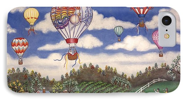 Ballooning Over The Country Phone Case by Linda Mears