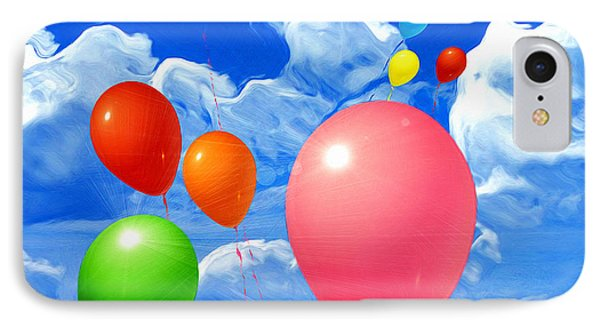 IPhone Case featuring the painting Balloons by Daniel Janda