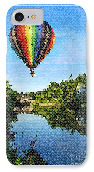 Balloons Over Quechee Vermont Stain Glass IPhone Case by Edward Fielding