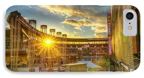 Ballpark Sunset At Target Field Phone Case by Mark Goodman