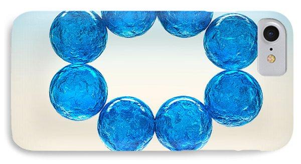 IPhone Case featuring the digital art Balls Of Glass... by Tim Fillingim
