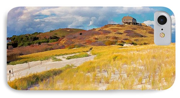 IPhone Case featuring the photograph Ballston Beach Dunes Photo Art by Constantine Gregory
