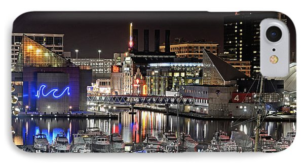 Baltimore Inner Harbor At Night IPhone Case